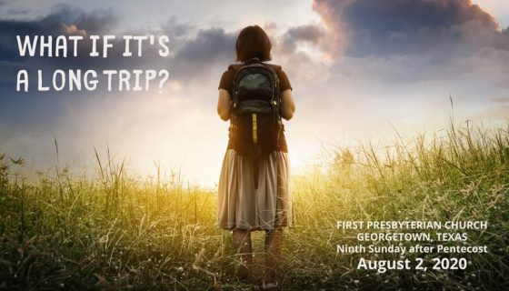 August 2 Sermon: What if it's a long trip?